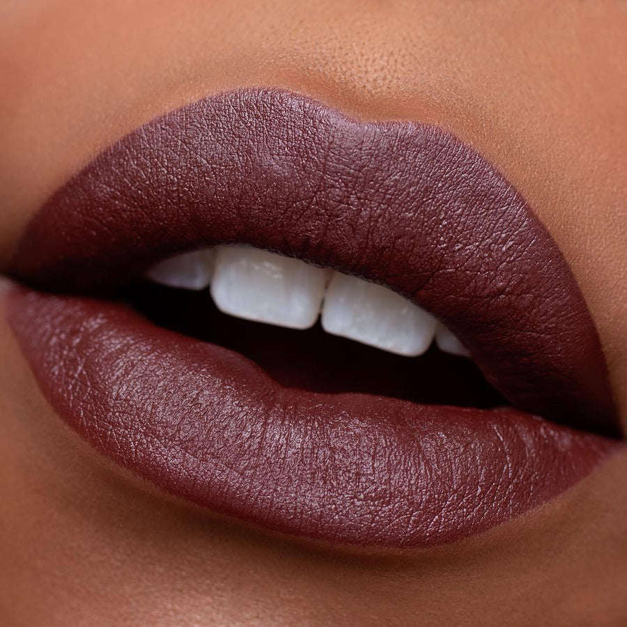 Obsession - chocolate brown lipstick for dark skin