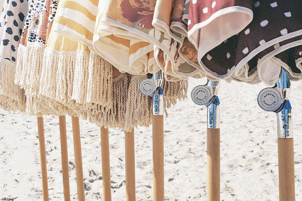 Summer Field Beach Umbrella ☼ Sunday Supply Co.