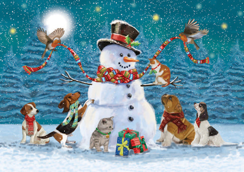 """Keeping Snowman Company"" Christmas Cards - Pack of 10"