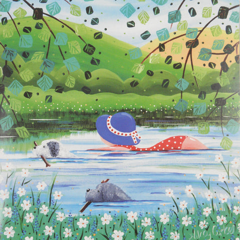 """Wild Swimming"" by Nikky Corker - Blank Eco Friendly Greeting Card (each)"