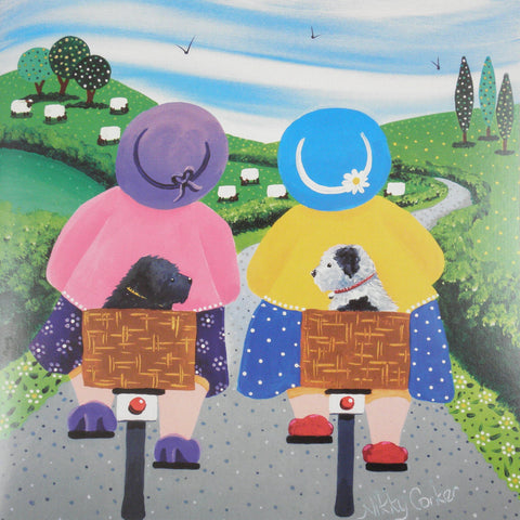"""Travelling Companions"" by Nikky Corker - Blank Eco Friendly Greeting Card (each)"