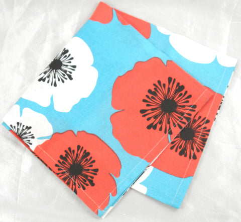 Tea Towel - Poppy design - 100% Cotton