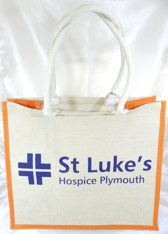 St Luke's Hospice Plymouth Jute Hessian Shopping Bag