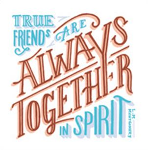 """True Friends"" by Emma Skerratt - Blank Eco Friendly Greeting Card (each)"