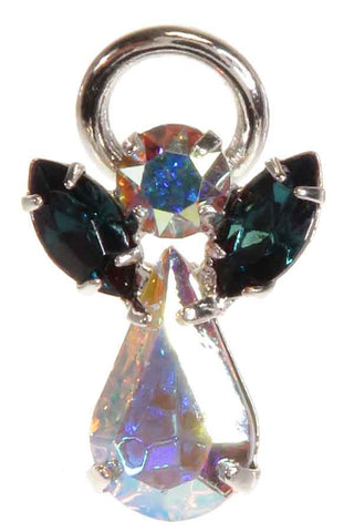 Guardian Angel Pin Badges in Swarovski Crystal - available in 12 birthstones