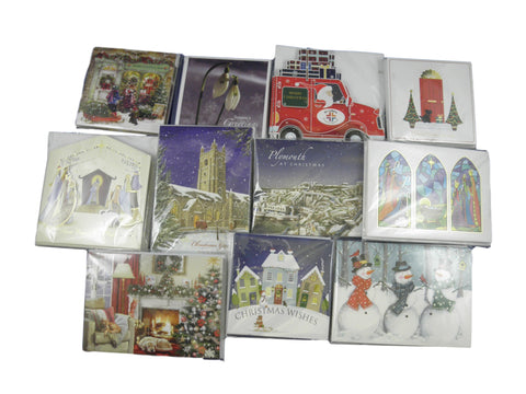 50 Assorted Christmas Cards (5 x 10 Packs) Bundle - Free P&P!