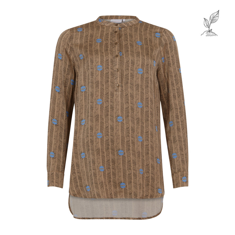 Coster Copenhagen SHIRT BLOUSE IN SPROUT PRINT Shirt/Blouse Sprout print - sand - 904