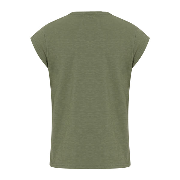 CC Heart CC HEART BASIC V-NECK T-SHIRT T-Shirt Mineral Green - 444