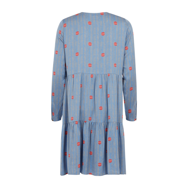Coster Copenhagen DRESS IN SPROUT PRINT Dress Sprout print - Airy Blue - 903