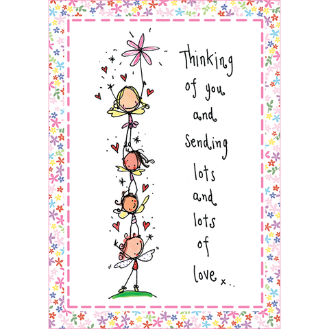 Thinking of you and sending lots & lots of love! - Juicy Lucy Designs