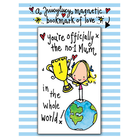 Officially the no.1 Mum in the whole world! - Juicy Lucy Designs