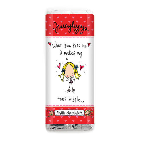 When you kiss me it makes my toes wiggle.. - Juicy Lucy Designs