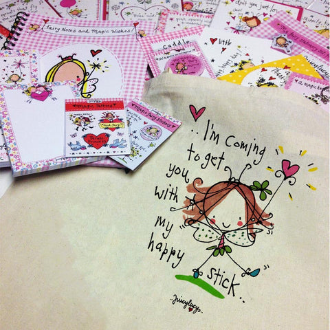 'I'm coming to get you with my happy stick' Goody Bag - Juicy Lucy Designs