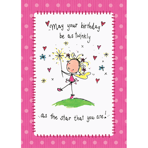 May your birthday be as twinkly as the star you are! - Juicy Lucy Designs