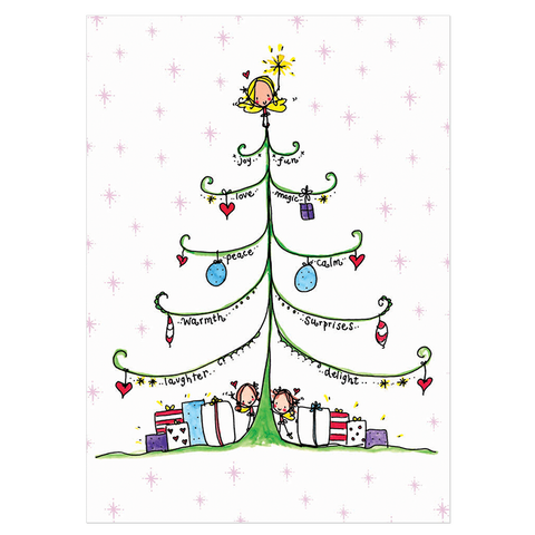 Christmas Card Pack 'Peas & Love' Pack A - Juicy Lucy Designs  - 1