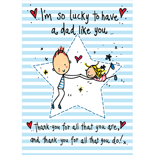 Fan image for lucky to have a dad like you printable