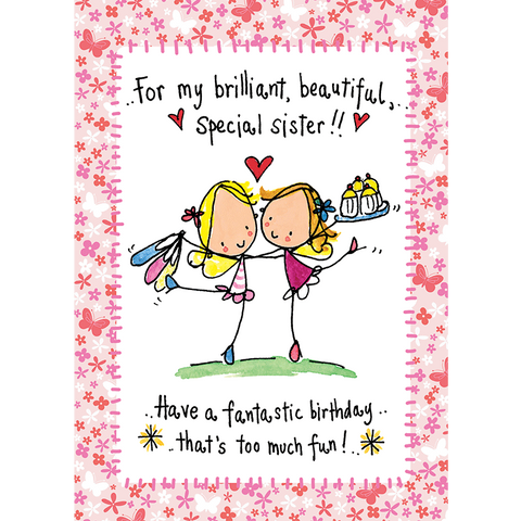 Greeting cards tagged sister juicy lucy designs for my brilliant beautiful special sister m4hsunfo