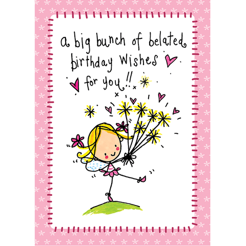 A big bunch of belated birthday wishes to you! - Juicy Lucy Designs