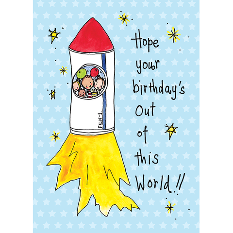 Hope your birthday is out of this World! - Juicy Lucy Designs