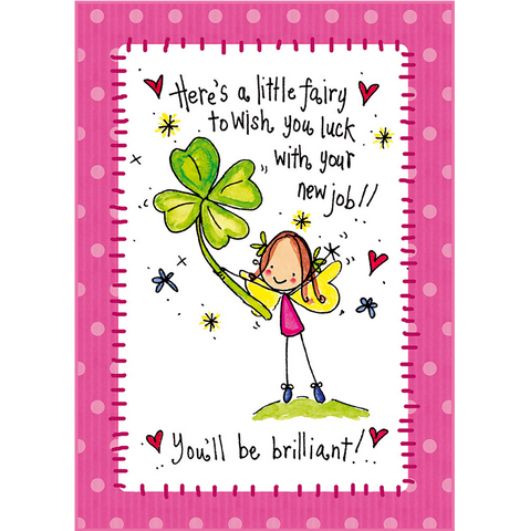Here's a little fairy to wish you luck with your new job! - Juicy Lucy Designs