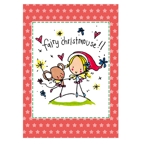 Christmas Card Pack 'Fairy Christmouse' Pack C - Juicy Lucy Designs  - 1