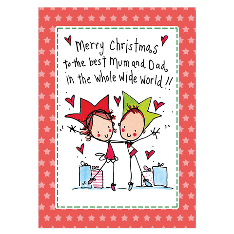 Merry Christmas to the best Mum & Dad... - Juicy Lucy Designs