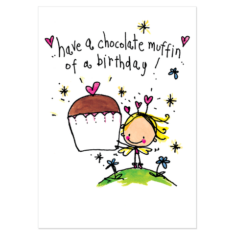 Have a chocolate muffin of a birthday! - Juicy Lucy Designs