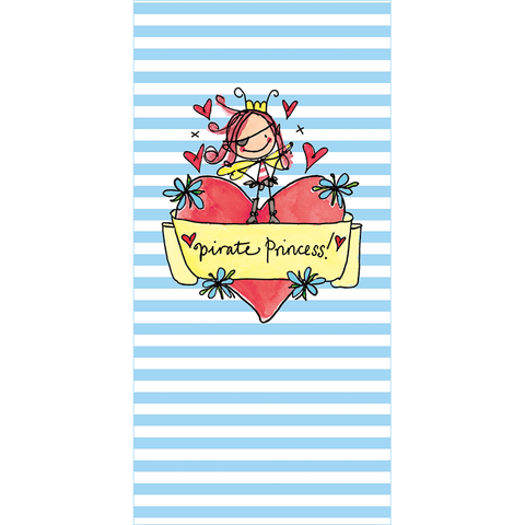 Pirate Princess Notepad - Juicy Lucy Designs  - 1