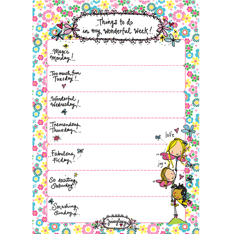 Things to do in my wonderful week! A4 size planner - Juicy Lucy Designs