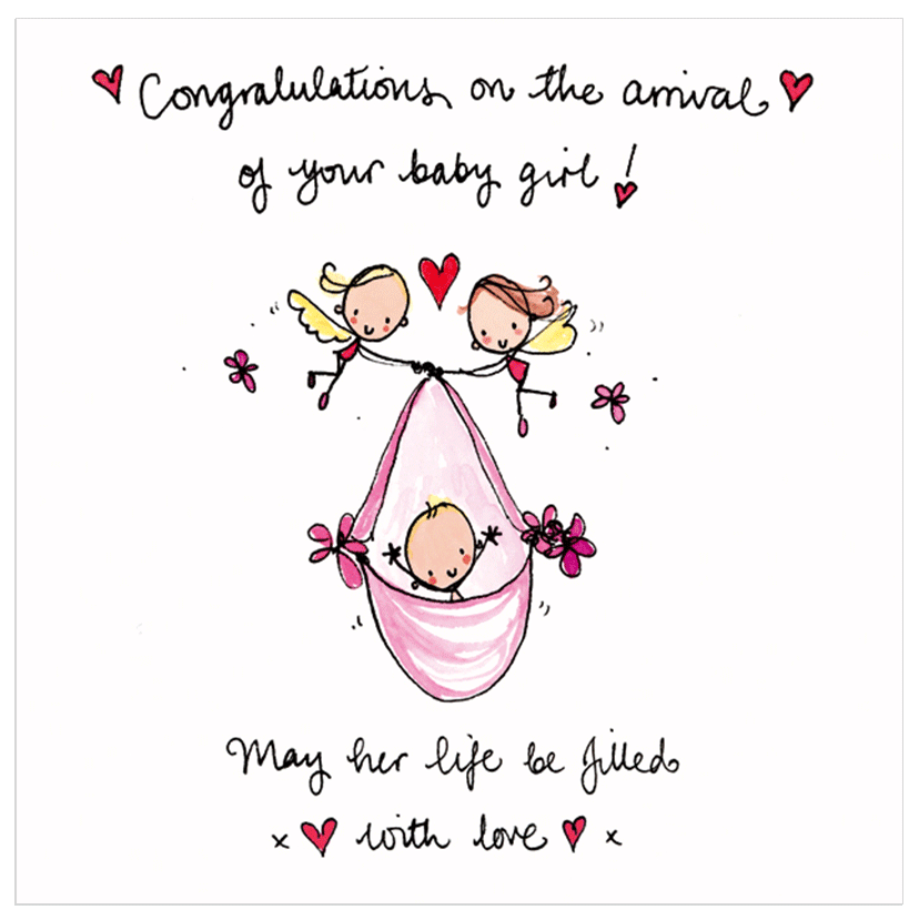 Image result for congratulations on arrival of baby girl