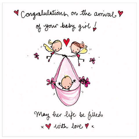 Congratulations on the arrival of your baby girl! - Juicy Lucy Designs