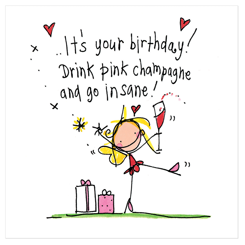 it s your birthday  drink pink champagne and go insane clipart hugs gif clip art hugging
