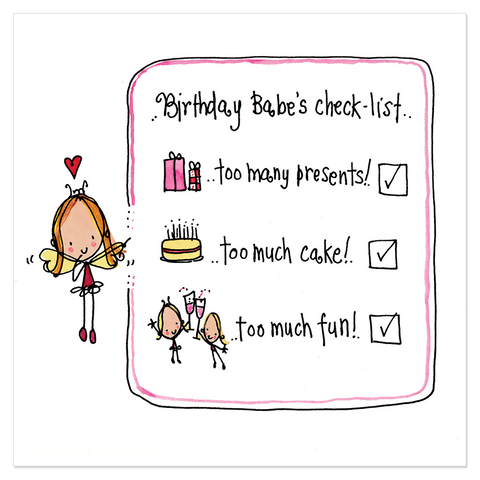 Birthday Babe's Checklist... - Juicy Lucy Designs