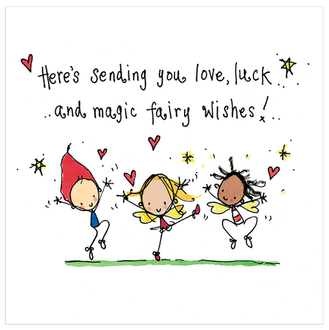 Here's sending you love, luck and magic fairy wishes! - Juicy Lucy Designs