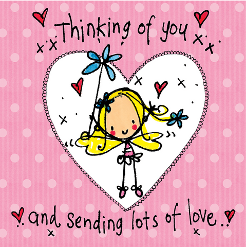 Thinking of You and sending lots of love! - Juicy Lucy Designs