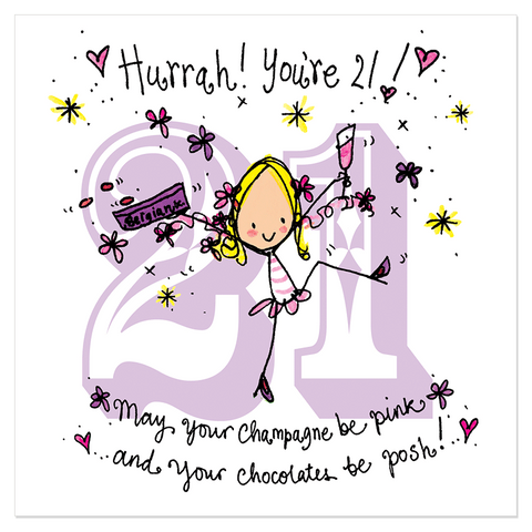 Hurrah! You're 21! - Juicy Lucy Designs