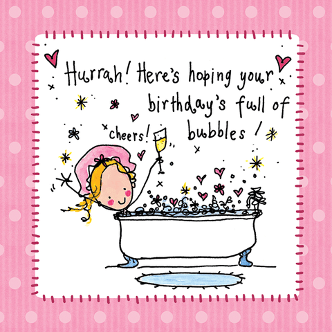 Hurrah! Here's hoping your birthday's full of bubbles! - Juicy Lucy Designs