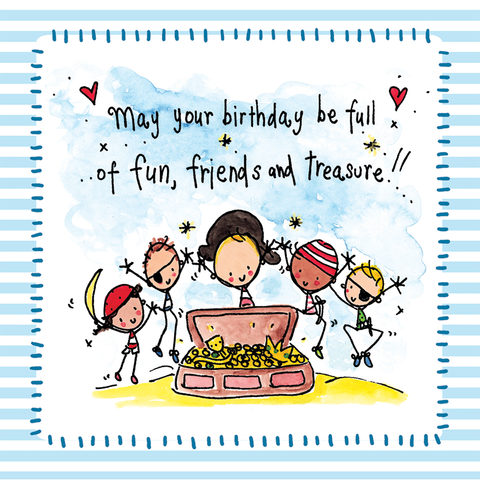 May your birthday be full of fun, friends and treasure! - Juicy Lucy Designs