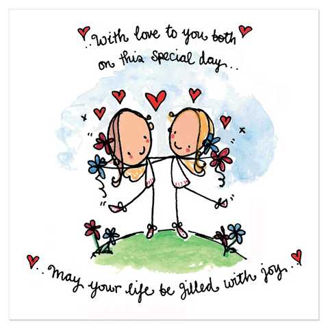 With love to you both on this special day... - Juicy Lucy Designs