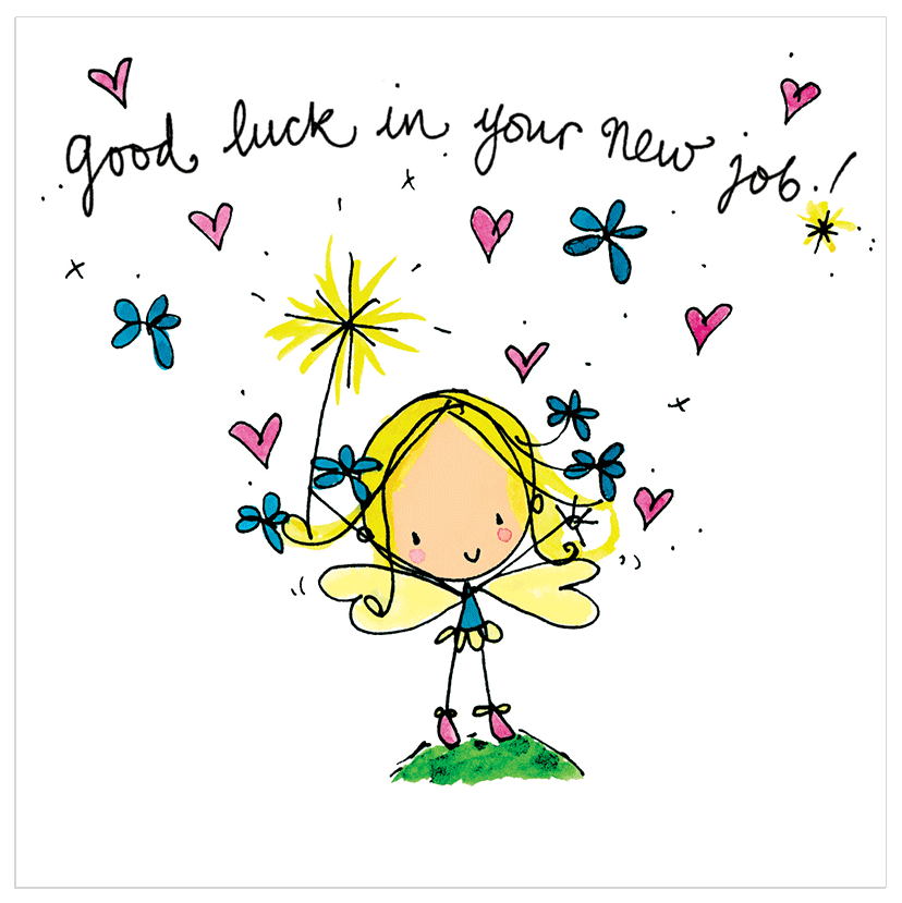 Good Luck Images Part - 19: Good Luck In Your New Job! - Juicy Lucy Designs