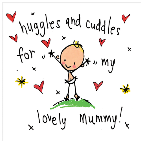 Huggles and cuddles for my lovely mummy! - Juicy Lucy Designs