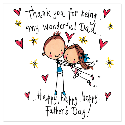 Thank you for being my wonderful Dad.. Happy happy, happy Father's day! - Juicy Lucy Designs