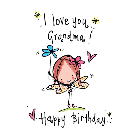 I love you Grandma! Happy Birthday! - Juicy Lucy Designs