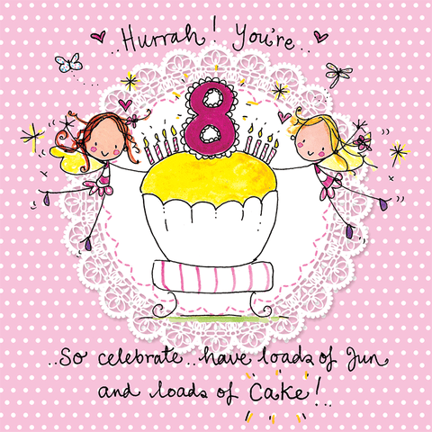 Hurrah! You're Eight! So celebrate... - Juicy Lucy Designs