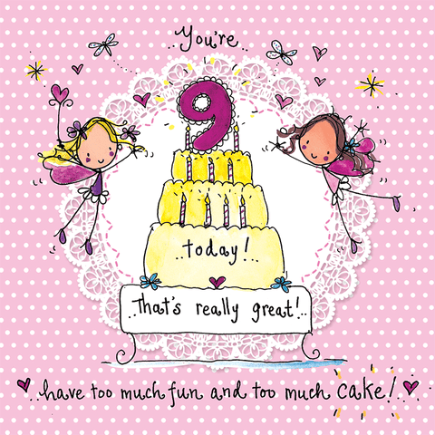 You're nine today! That's really great! - Juicy Lucy Designs