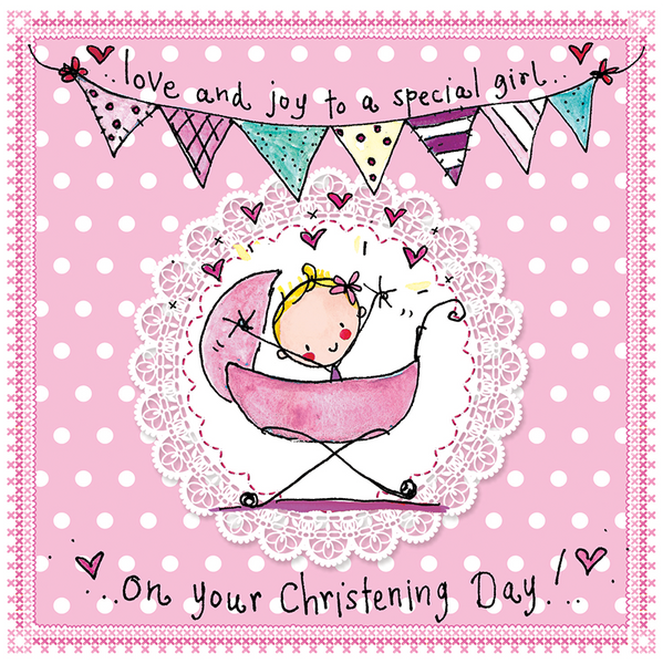 Love And Joy To A Special Girl On Your Christening Day