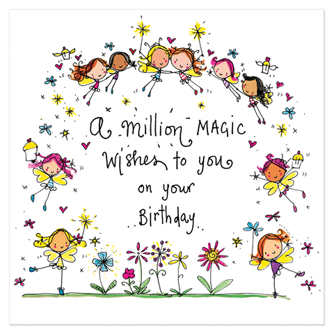 A million magic wishes to you on your birthday! - Juicy Lucy Designs