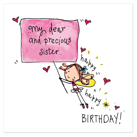 My dear and precious sister.. happy birthday! - Juicy Lucy Designs