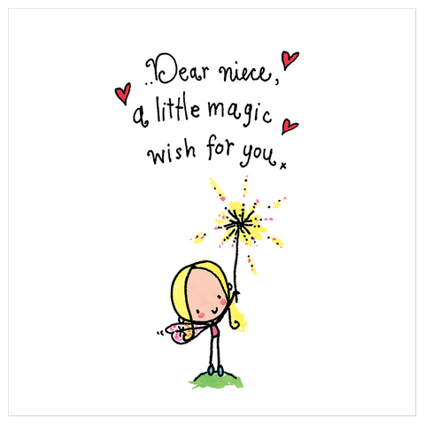 Dear Niece! A little magic wish for you! - Juicy Lucy Designs