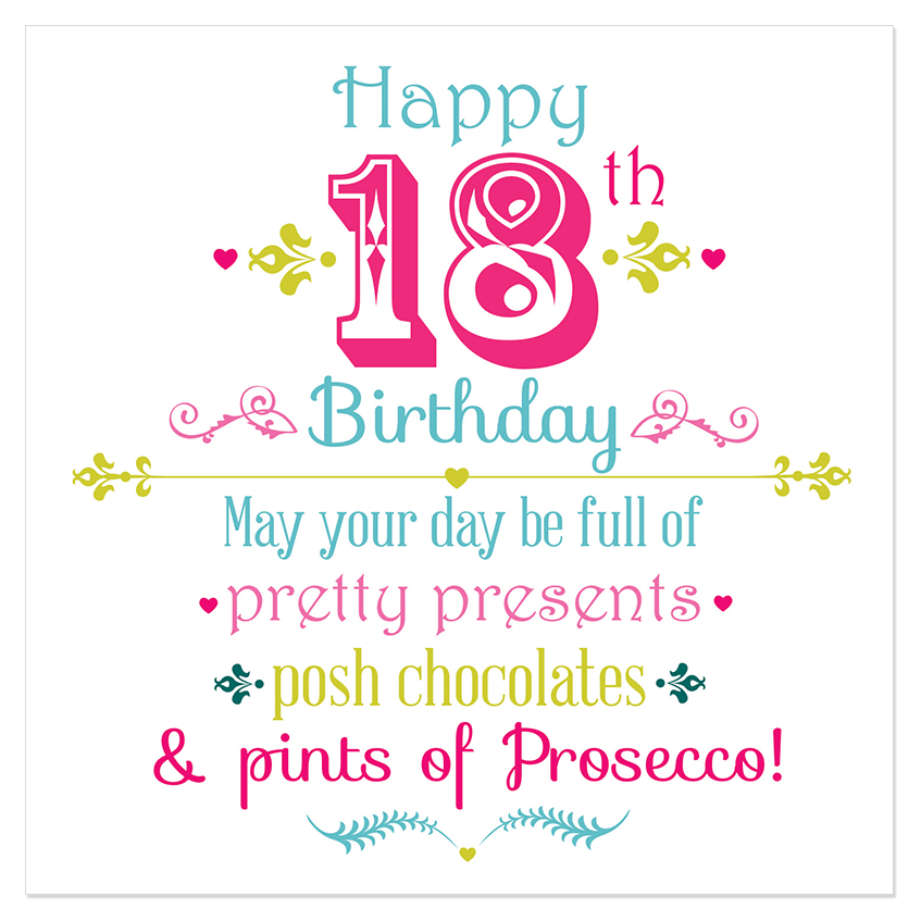 18th Birthday Cards For Girls ~ Happy th birthday juicy lucy designs